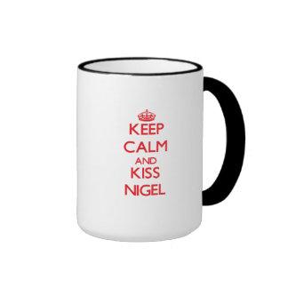 Keep Calm and Kiss Nigel Mugs