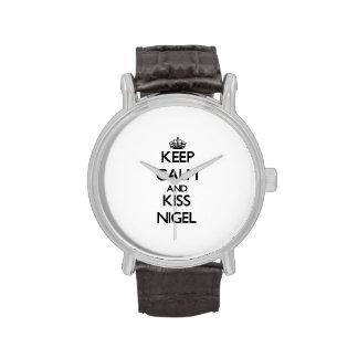 Keep Calm and Kiss Nigel Wristwatch