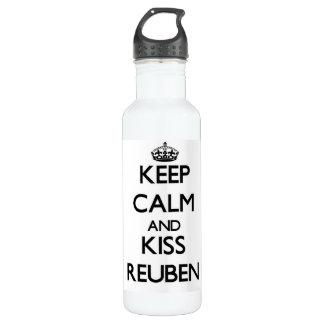 Keep Calm and Kiss Reuben 710 Ml Water Bottle