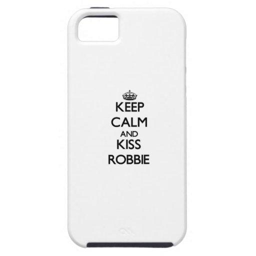 Keep Calm and Kiss Robbie iPhone 5 Case