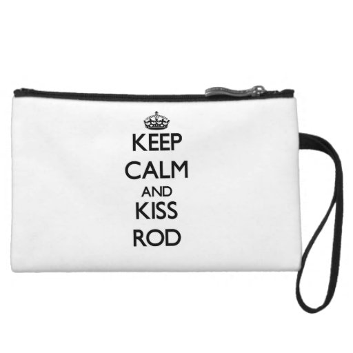 Keep Calm and Kiss Rod Wristlet Purses