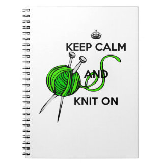 Keep Calm and Knit On Notebook