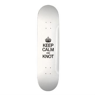 KEEP CALM AND KNOT 21.3 CM MINI SKATEBOARD DECK