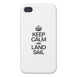 KEEP CALM AND LAND SAIL iPhone 4 COVER