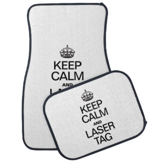 KEEP CALM AND LASER TAG FLOOR MAT