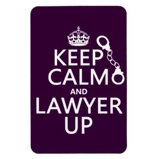 Keep Calm and Lawyer Up (any color) Rectangular Photo Magnet
