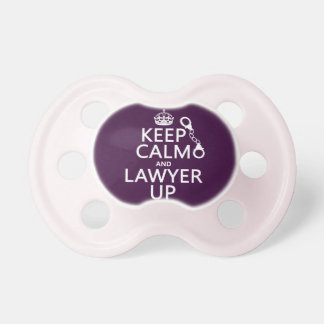 Keep Calm and Lawyer Up (any color) Pacifiers