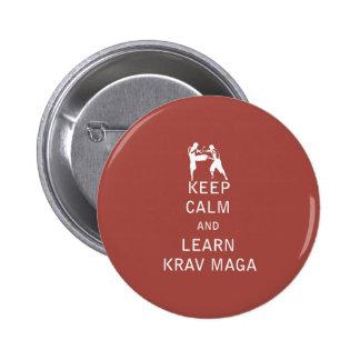 Keep Calm and Learn Krav Maga Pins