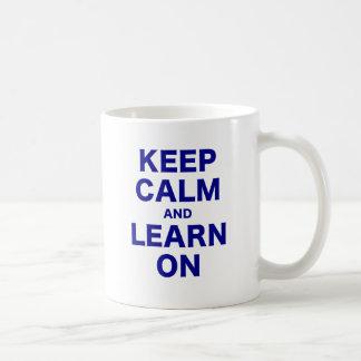 Keep Calm and Learn On Mug