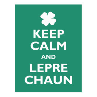 Keep Calm and Leprechaun Postcard