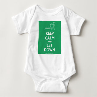 Keep Calm and Let Down baby uniform Baby Bodysuit