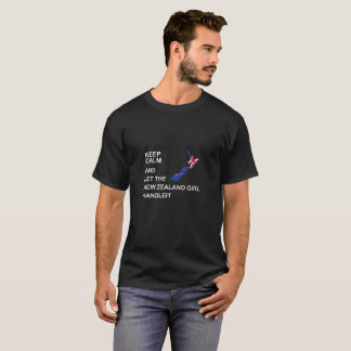 Keep Calm And Let The New zealand Girl Handle It T-Shirt