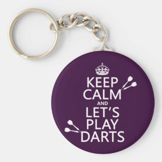 Keep Calm and Let's Play Darts Key Ring