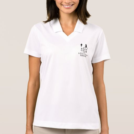 Keep Calm and Lets Play Soccer Polo Shirts