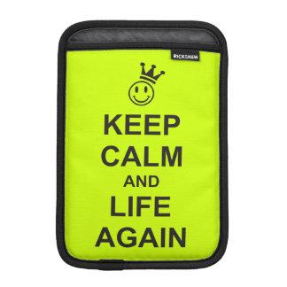 KEEP CALM and LIFE AGAIN iPad Mini Sleeve