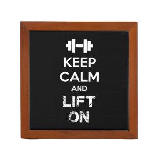 Keep Calm and Lift On - Workout Motivational Desk Organiser