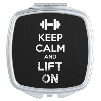 Keep Calm and Lift On - Workout Motivational Vanity Mirror