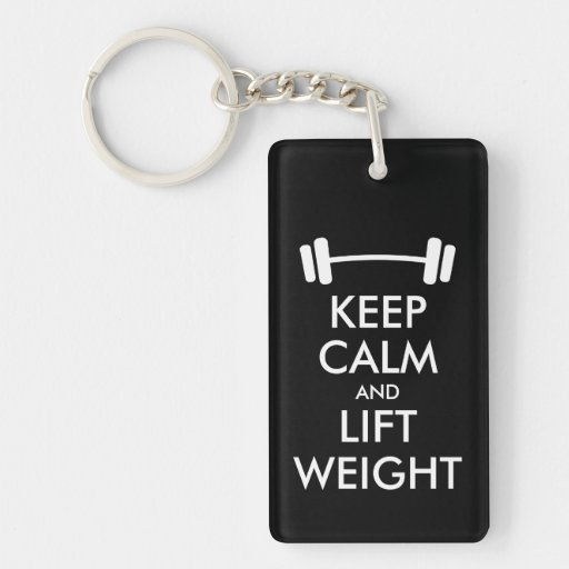 Keep calm and lift weight keychain