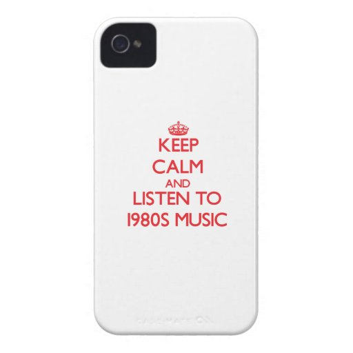 Keep calm and listen to 1980S MUSIC Case-Mate iPhone 4 Cases