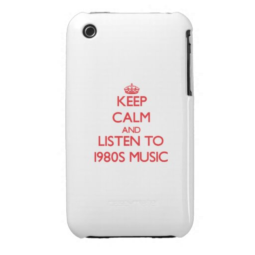 Keep calm and listen to 1980S MUSIC iPhone 3 Cover