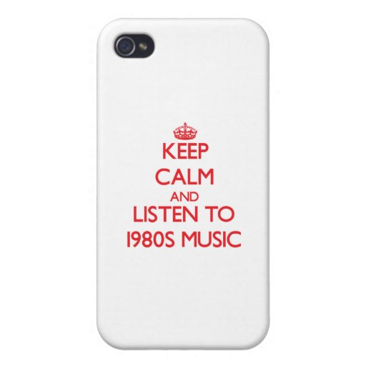 Keep calm and listen to 1980S MUSIC iPhone 4/4S Cover