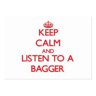 Keep Calm and Listen to a Bagger Large Business Cards (Pack Of 100)