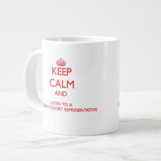 Keep Calm and Listen to a Children s Resort Repres Jumbo Mugs
