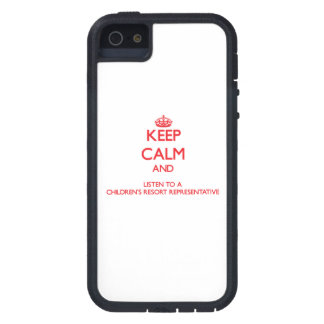 Keep Calm and Listen to a Children's Resort Repres iPhone 5 Cases