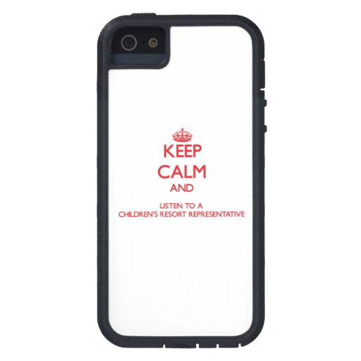 Keep Calm and Listen to a Children's Resort Repres iPhone 5 Cover
