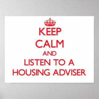 Keep Calm and Listen to a Housing Adviser Print