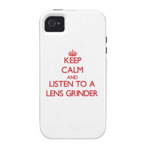 Keep Calm and Listen to a Lens Grinder Case-Mate iPhone 4 Cover