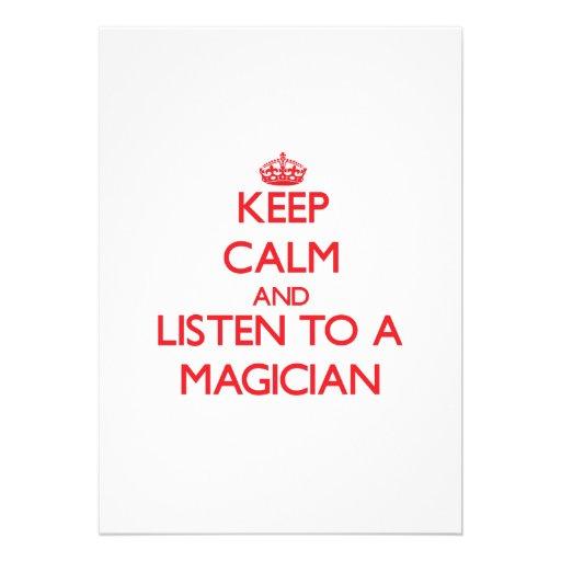 Keep Calm and Listen to a Magician Custom Invites