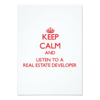Keep Calm and Listen to a Real Estate Developer Personalized Announcements