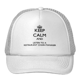 Keep Calm and Listen to a Restaurant Chain Manager Mesh Hats