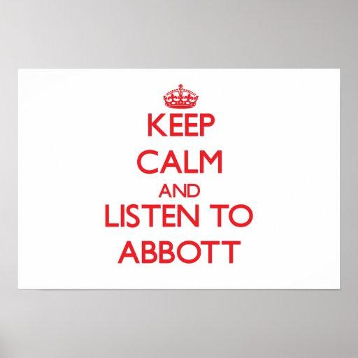 Keep calm and Listen to Abbott Print