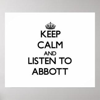 Keep calm and Listen to Abbott Poster