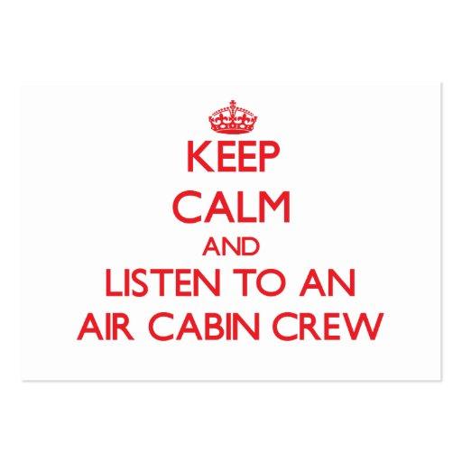 Keep Calm and Listen to an Air Cabin Crew Business Card