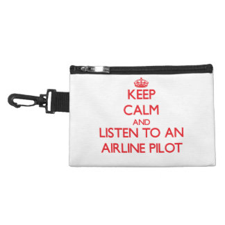 Keep Calm and Listen to an Airline Accessories Bag