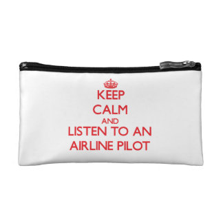 Keep Calm and Listen to an Airline Cosmetics Bags