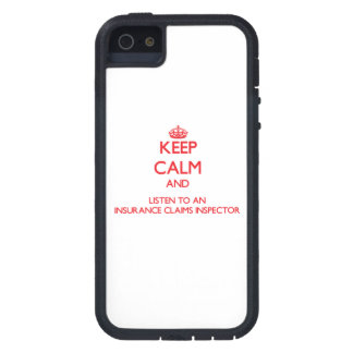 Keep Calm and Listen to an Insurance Claims Inspec iPhone 5 Covers