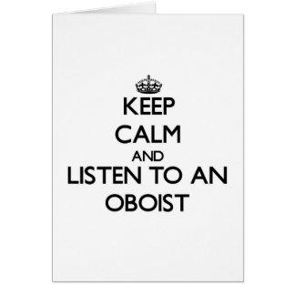 Keep Calm and Listen to an Oboist Card