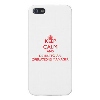 Keep Calm and Listen to an Operations Manager iPhone 5 Cases