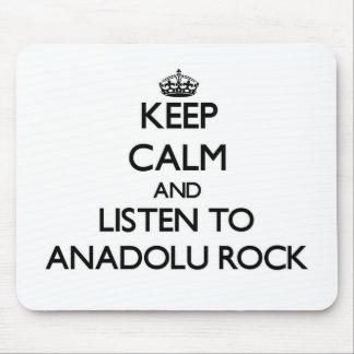 Keep calm and listen to ANADOLU ROCK Mousepad
