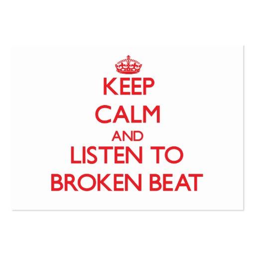Keep calm and listen to BROKEN BEAT Business Card