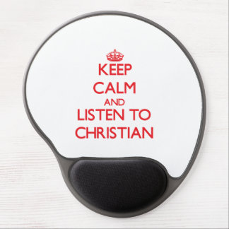 Keep calm and Listen to Christian Gel Mouse Mats