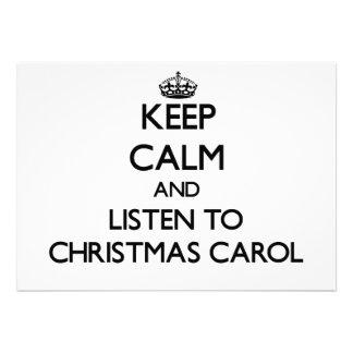 Keep calm and listen to CHRISTMAS CAROL Invitation