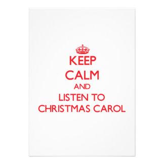 Keep calm and listen to CHRISTMAS CAROL Custom Announcement