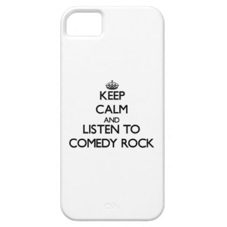 Keep calm and listen to COMEDY ROCK iPhone 5/5S Cases