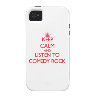 Keep calm and listen to COMEDY ROCK iPhone 4 Case