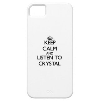 Keep calm and Listen to Crystal iPhone 5 Case